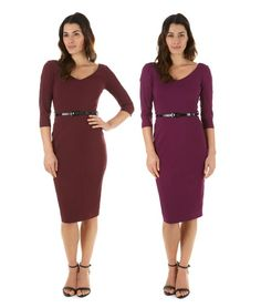 Our Burbank Pencil Dress is now available in Burgundy and Berry! #fashion #style #burgundy #berry #elegant #chic #classic #sophisticated #modern #contemporary #AW15 #theprettydress #theprettydresscompany
