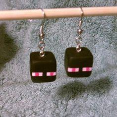 Minecraft  Enderman Earrings by Chiiaaki on Etsy, $8.00