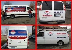 @Newcomer Plumbing - get noticed! Update #CompanyVehicles with a logo design and graphics. www.victorysignco.com