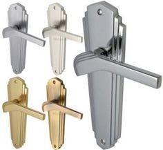 Waldorf 1930\'s Art Deco Door Handles - Satin Nickel - The Brassware ...