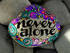Never Alone / Painted Stone / Sandi Pike by LoveFromCapeCod, $45.00
