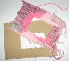 Cardboard Weaving Frame how to