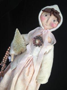 Large Colleen Moody ORIGINAL Christmas Doll OOAK~Signed and dated. A Seasonal Mood.  PFATT