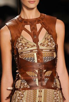 Herve Leger for Max Azria Fall 2012 -- Whatever this is, it strikes us as a great match for a pair of shoes on our Shoe Fetish board!