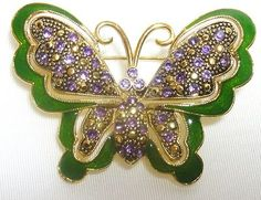 Vintage Summer Butterfly Brooch Beautiful!