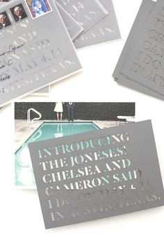 Die-cut Wedding Announcements / By Go Forth Creative