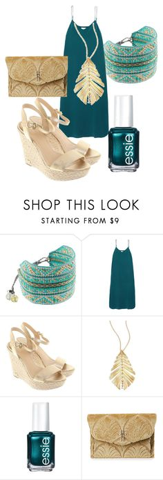 """Teal Tuesday"" by feralkind ❤ liked on Polyvore featuring Mishky, Equipment, Michael Kors, Hueb, Essie and Hayward"