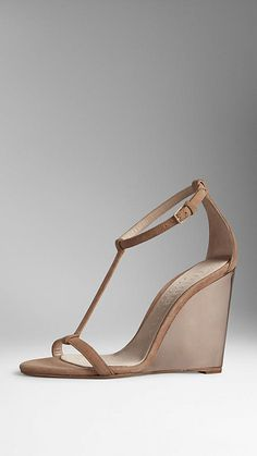 http://rstyle.me/n/xnk5dsgg6 Camel Suede Lucite Wedge Sandals