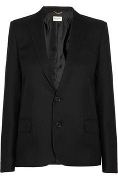 Saint Laurent|Wool-gabardine blazer|NET-A-PORTER.COM