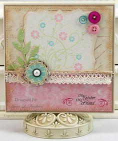 card designed by Mona Pendleton using JustRite Family Garden