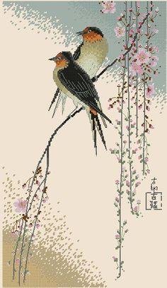 Cross Stitch Gallery, Cross Stitch Bird, Cross Stitch Animals, Cross Stitch Flowers, Cross Stitch Charts, Cross Stitch Designs, Cross Stitching, Cross Stitch Embroidery, Cross Stitch Patterns