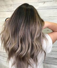 "This ombre hair is perfect for girls who are not quite ready to commit to the ""all over ash blonde"" look"
