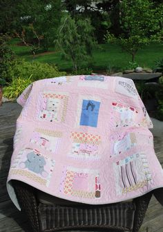 Keepsake Quilt Made out of baby clothes