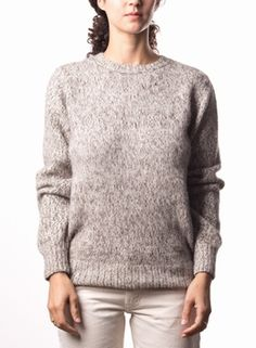 Women's Alpaca Moulinex Sweater STEEL Ethical Clothing, Grey And White, Gray, Men Sweater, Pullover, Knitting, Sweaters, Clothes, Steel