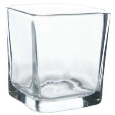 Clear Square Glass Votive Candle Holder - 3""
