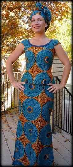 African Fashion & Style- oranges and blues coming through