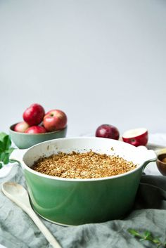 Apple & Cranberry Quinoa Crumble // The Green Life