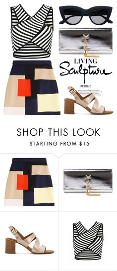 """""""May 10th (tfp) 1445"""" by boxthoughts ❤ liked on Polyvore featuring MSGM, Yves Saint Laurent, See by Chloé and tfp"""