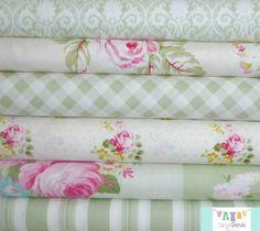 Sunshine Rose Green Fat Quarter Bundle, $18.00, Skye Reve Fabrics