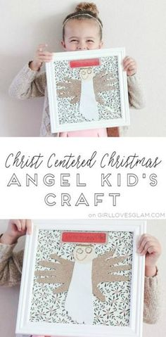 Kids craft Christmas angel that is a both a decoration and keepsake for years to come! Create an angel with handprints and footprints!