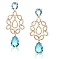 Dizem que quem gosta do azul tem uma ligação de harmônia com o mundo espiritual. Quem aí também ama cristal de topázio azul levanta a mão! \0/ #atacado #topázioazul #semijoias #fashion #glam #jewelry #joias #lovedivory #lookdodia #divacomdivory