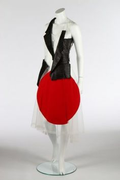 Lot: A Rei Kawakubo/Comme des Garçons 'Rising Sun' dress,, Lot Number: 0233, Starting Bid: £750, Auctioneer: Kerry Taylor Auctions, Auction: Passion for Fashion, Date: June 24th, 2014 EDT