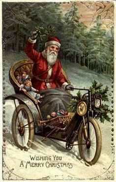 Here is the last group of vintage Santa images. Here is Santa arriving on a train. The next two show Santa tr. Ghost Of Christmas Past, Christmas Scenes, Father Christmas, Christmas Pictures, Christmas Card Crafts, Vintage Christmas Cards, Christmas Art, Christmas Classics, Christmas Postcards