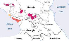Northwest Caucasian languages: Circassian (Kabardian, Adyghe) and Abazgi (Abkhaz, Abaza)
