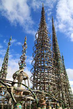 Watts Towers in Watts near Los Angeles