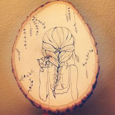 Etsy.com/ArtByARose Tree slice art