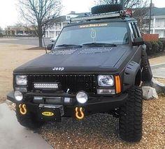 Jeep XJ grill, paint, hid headlights, front bumper