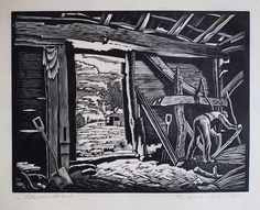 Ethelbert White - wood engraving - Shadowing Domesday