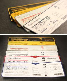 The information is divided in a clear format for the different people who read the the pass i.e passenger, gate staff, etc