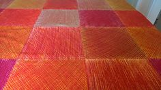 Marimekko MAISEMA 100% Cotton Fabric Fujiwo Ishimoto 1982 Design Reds Orange By the Yard! by yorkshiredesigns on Etsy