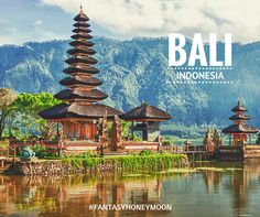 Bali makes for a dreamy honeymoon – A seamless blend of welcoming culture, intriguing architecture, incredible white-sand beaches and stunning natural beauty, it's the best romantic place to escape for your honeymoon. #FantasyHoneymoon #Bali #‎Honeymooners‬