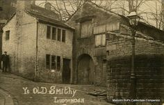 Old Smithy in Luddenden Village, on the site of the present War Memorial