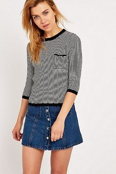 Urban Outfitters Ribbed Short Sleeve Top