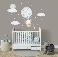 Etsy 80 USD The post Nursery wall decal Elephant nursery decal Moon wall sticker Balloon wall decal animals Nursery balloon decal Hot air balloon Nursery sticker appeared first on Woman Casual - Kids and parenting Baby Room Wall Stickers, Baby Room Wall Decor, Baby Room Themes, Nursery Wall Stickers, Baby Decor, Elephant Baby Rooms, Baby Boy Rooms, Elephant Balloon, Elephant Nursery Wall Decor