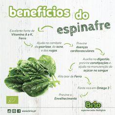 Brio Supermercados Biológicos, beneficios do espinafre