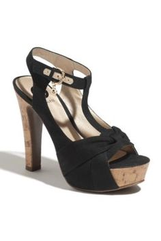 GbyGUESS Cocoa Sandal in Black... love, love, love these.