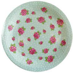 Plates Vintage Rose Party Plates - Pack of 8 plates  sc 1 st  Pinterest & Vintage Tea Party Paper Serving Plates Party Paper Plates Paper ...