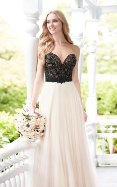 Unique and modern meets classic and romantic in this perfectly-paired wedding dress style from the Martina Liana separates collection.