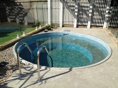 An Ecowater Concrete Tanks plunge pool shell is an easy and cost effective pool solution for the Australian backyard. With in pool seating, they are a great way to relax, cool off and enjoy summer. Pools For Small Yards, Small Swimming Pools, Small Backyard Pools, Swimming Pools Backyard, Swimming Pool Designs, Pool Spa, Standard Garage Door Sizes, Stock Tank Pool, Plunge Pool