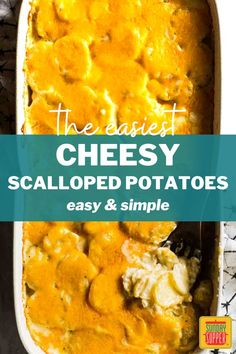 Your friends will be asking for our make-ahead scalloped potato recipe after just one bite of this easy and simple dish. They are a pure decadent delight and the perfect pairing to a prime rib or steak dinner! Make Ahead Scalloped Potatoes, Creamy Scalloped Potatoes, Scalloped Potato Recipes, Easy Baked Potato, Potato Wedges Baked, Twice Baked Potatoes, Easter Side Dishes, Thanksgiving Side Dishes, Side Dishes Easy
