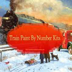 Are you a #train enthusiast? Do you just love trains? If so you'll really enjoy these Train #PaintByNumberKits! You'll find a number of #PBNKits for trains that would make ideal #gifts for train lovers. Train Paint by Number kits http://paintbynumberforadults.com/train-paint-by-number-kits/