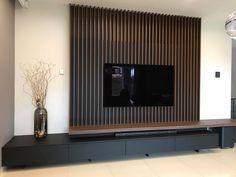 Living Room Tv Unit, Home Living Room, Living Room Decor, Home Room Design, Home Interior Design, Living Room Designs, Modern Tv Room, Tv Wall Design, House Rooms