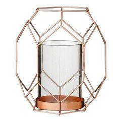 Bloomingville Basket kynttilälyhty S, kupari