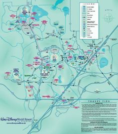 Walt Disney World Map, Free Disney Resort Area Map