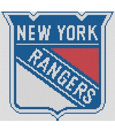 Counted Cross Stitch Pattern New York Rangers NHL Logo by dueamici