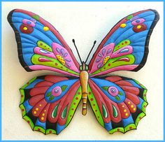 hand painted butterfly wall art   - View more at www.Butterfly-Decor.com